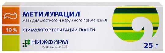 Метилурацил 10% 25г мазь для местного и наружного применения, фото №1
