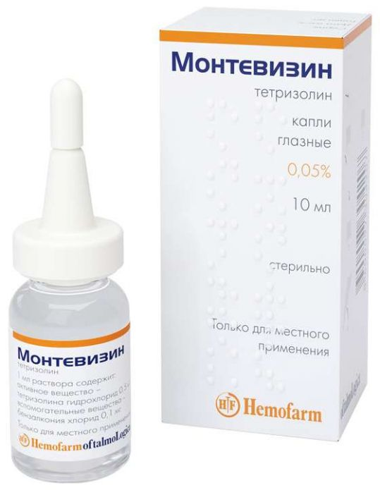 Монтевизин 0,05% 10мл капли глазные, фото №1