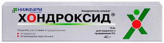 Хондроксид 5% 40г гель
