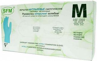 Сфм перчатки нитриловые нестерильные неопудренные синтетические размер m 50 шт. пар