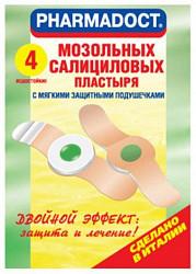 Пластырь фармадокт мозольный 4 шт. пакет