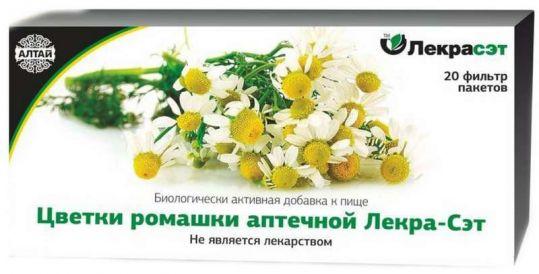 Ромашки аптечной цветки 1,5г 20 шт. фильтр-пакет, фото №1