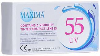 Максима линзы контактные 55 uv 8,6 (-5,00) 6 шт.