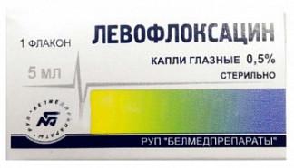 Левофлоксацин 0,5% 5мл капли глазные