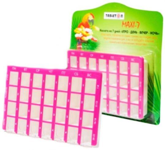 Таблетон макси-7 таблетница на 7 дней на четыре приема в день, фото №1