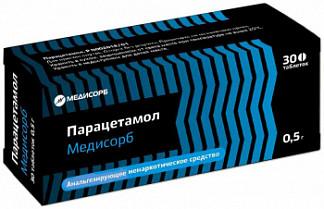 Парацетамол медисорб 0,5г 30 шт. таблетки