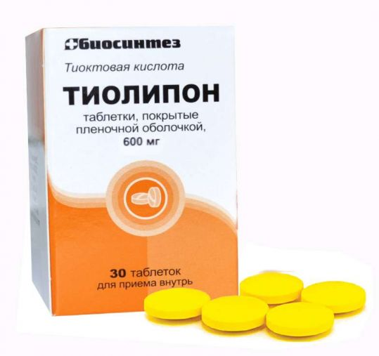 Тиолипон 600мг 30 шт. таблетки покрытые пленочной оболочкой, фото №1
