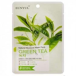Эуньюл маска тканевая для лица с экстрактом зеленого чая 1 шт.
