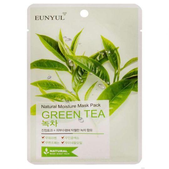 Эуньюл маска тканевая для лица с экстрактом зеленого чая 1 шт., фото №1