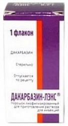 Дакарбазин-лэнс 100мг 1 шт. лиофилизат для приготовления раствора для внутривенного введения