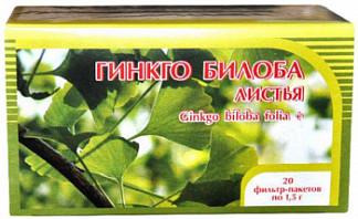 Гинкго билоба+клевер цветки и трава 1,5г 20 шт. фильтр-пакет