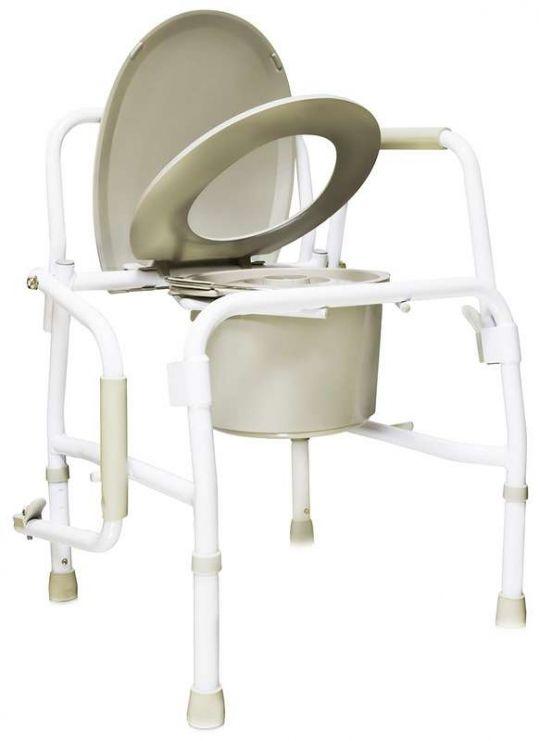 Амрус кресло-туалет amсв6807 с опускающимися подлокотниками, фото №1
