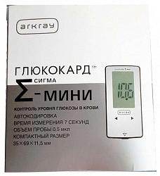 Глюкокард сигма мини глюкометр для измерения глюкозы в крови + тест-полоски