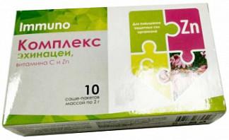 Комплекс имбиря, витамина с и цинка 10 шт. порошок саше