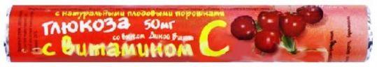 Глюкоза квадрат-с таблетки дикая вишня с плодовым порошком 18 шт., фото №1