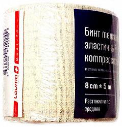 Лаума балтик медикал бинт эластичный компрессионный средней растяжимости 8х500см