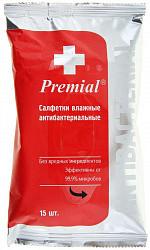 Салфетки premial 15 шт. антибактер.