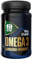 Омега-3 капсулы 35% с ламинарией и витамином е 120 шт.