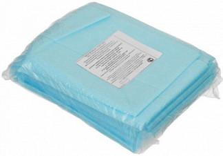 Простыня хирургическая нестерильная спанбонд 25гр/м2 размер 200х140см голубой 5 шт.