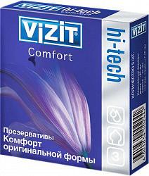 Визит презервативы хай-тэк комфорт 3 шт.