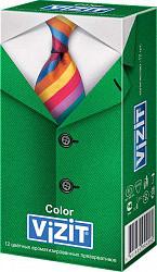 Визит презервативы ароматизированные и цветные 12 шт.