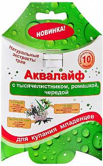 Аквалайф таблетки шипучие для ванн тысячилистник/ромашка/череда №10
