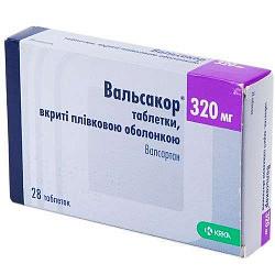 Вальсакор 320мг 28 шт. таблетки покрытые пленочной оболочкой