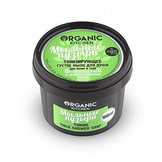 Органик шоп китчен мыло густое для волос/тела тонизирующее мыльные пузыри 100мл