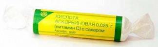 Аскорбиновая кислота с сахаром таблетки 25мг бад 3г 10 шт.