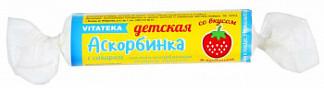 Аскорбиновая кислота таблетки клубника бад 10 шт. крутка