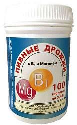 Дрожжи пивные таблетки в1/магний 100 шт.