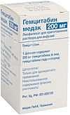 Гемцитабин медак 200мг 1 шт. лиофилизат для приготовления раствора для инфузий