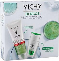 Виши набор (микропил шампунь-пилинг-маска 3 в 1 200мл + шампунь интенсивный против перхоти для нормальных и жирных волос 100мл)