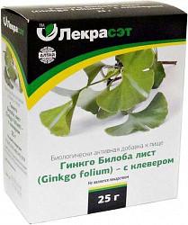 Гинкго билоба лист с клевером 25г