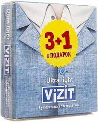 Визит презервативы ультратонкие n3+1