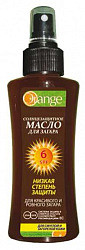 Оранж масло для загара солнцезащитное spf6 100мл