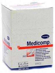 Хартманн медикомп салфетки марлевые стерильные 5х5см 50 шт.