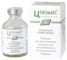 Цефомакс 1г 1 шт. порошок для приготовления раствора для внутривенного и внутримышечного введения