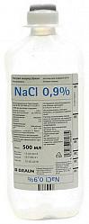 Натрия хлорид браун 0,9% 500мл 10 шт. раствор для инфузий б.