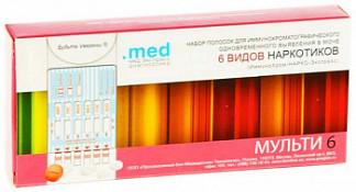 Тест иммунохром-нарко-6-мульти-экспресс на выявление наркотиков в моче