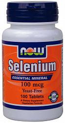 Нау фудс селениум таблетки 100мкг 100 шт.