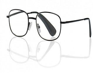 Кемнер оптикс очки корригирующие для чтения черные металлические круглые +1,0
