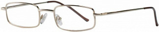 Кемнер оптикс очки корригирующие для чтения золотые металлические полукруглые +1,0
