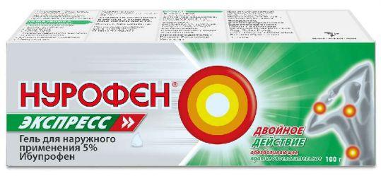 Нурофен экспресс 5% 100г гель для наружного применения, фото №1