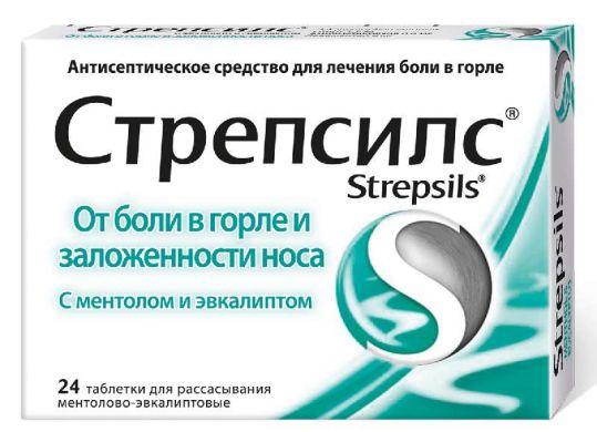 Стрепсилс 24 шт. таблетки для рассасывания ментол-эвкалипт, фото №1