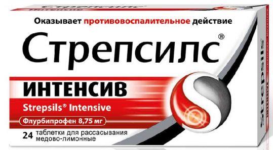 Стрепсилс интенсив 24 шт. таблетки для рассасывания мед-лимон, фото №1
