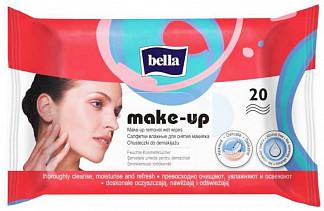 Белла салфетки влажные для снятия макияжа 20 шт.