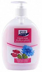 Ева натура крем-мыло для рук шиповник/василек 500мл