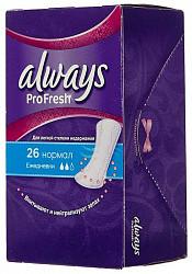 Олвейз прокладки ежедневные при недержании про-фреш нормал 26 шт.
