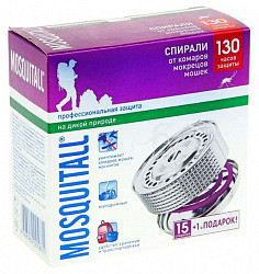 Москитол профессиональная защита спираль от комаров №15